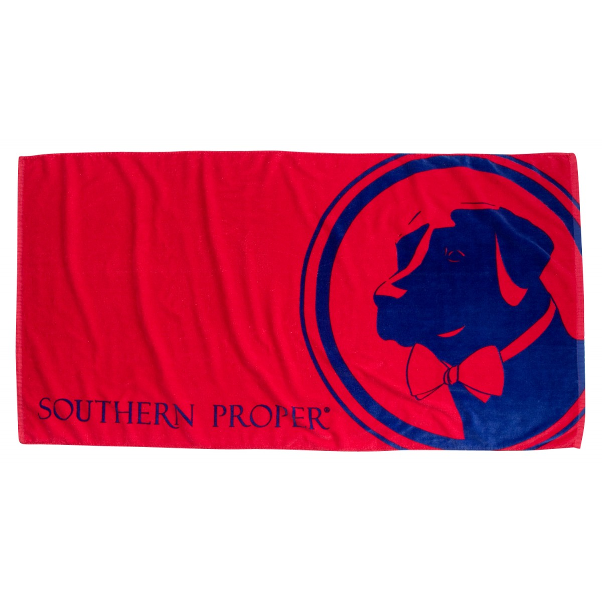 Red Southern Proper Logo Beach Towel